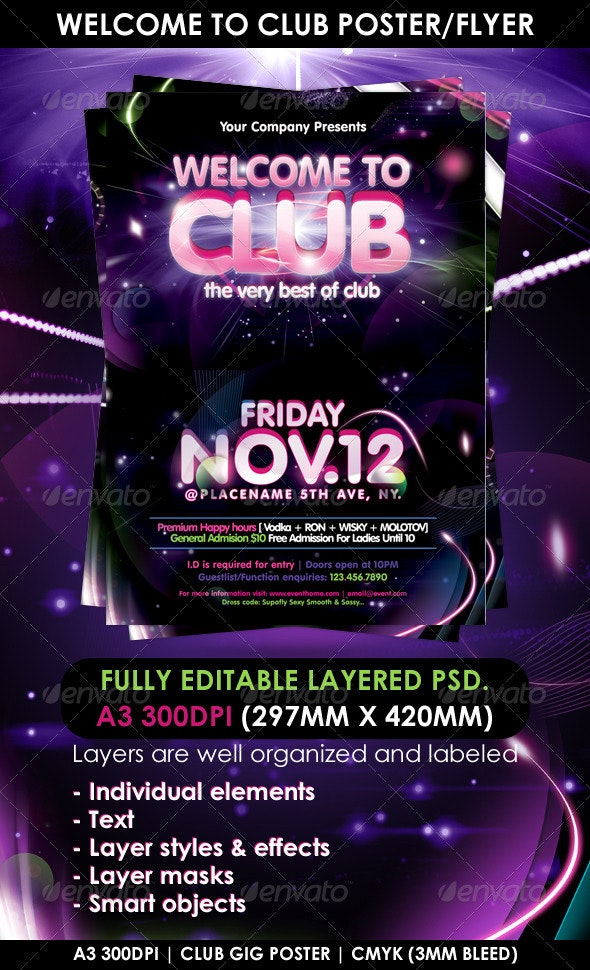 Welcome to Club Poster/Flyer Template - Clubs & Parties Events