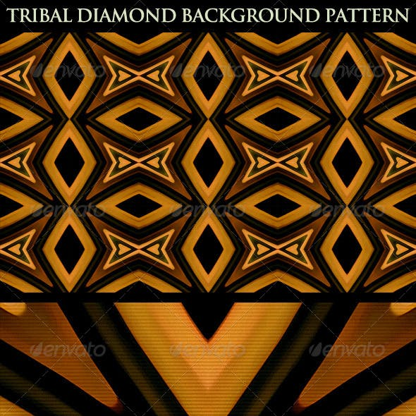 Tribal Diamond Background Pattern