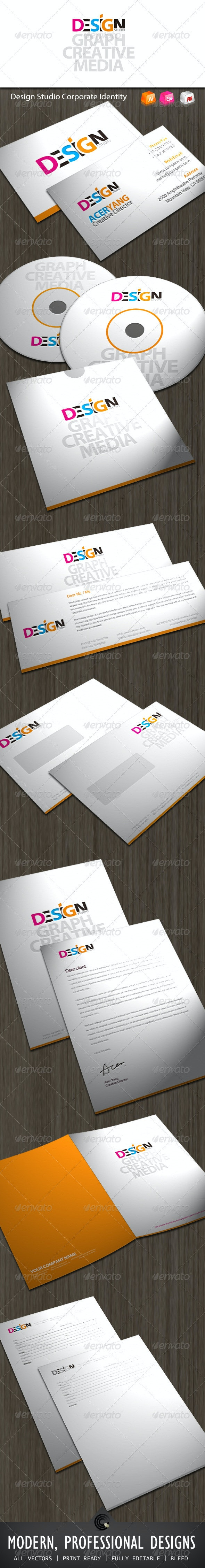 Design Studio Corporate Identity - Stationery Print Templates