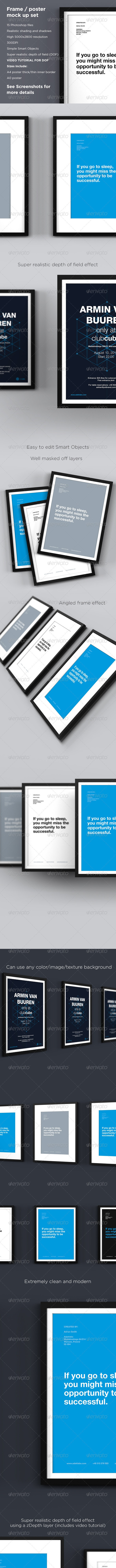 Frame / Poster Mock-up Pack - Posters Print