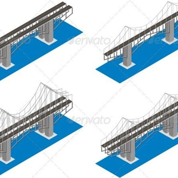 Isometric View Of The Bridge.