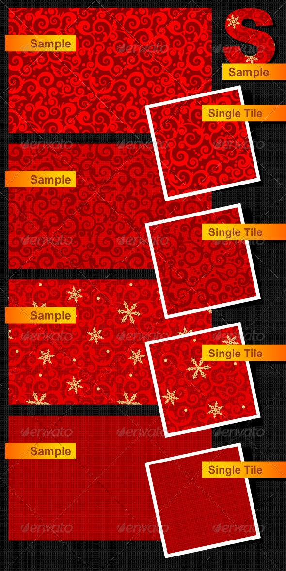 Holiday Seamless Patterns - Christmas Seasons/Holidays