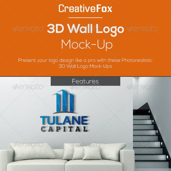 3D Wall Logo Mock-Up