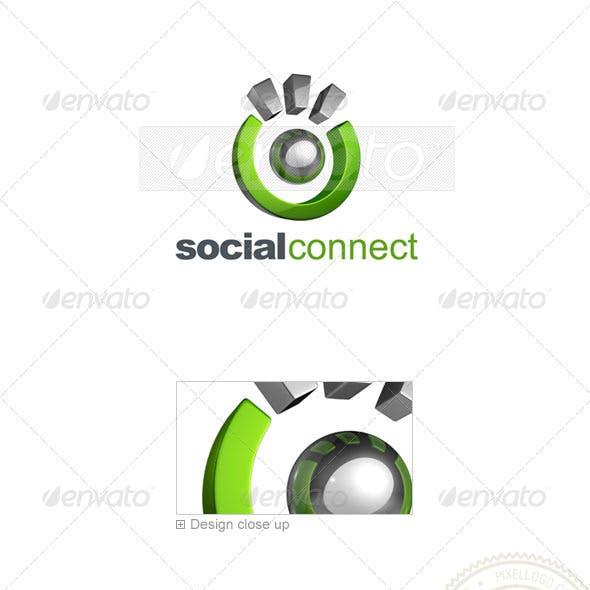 Social Media Logo 3D-740