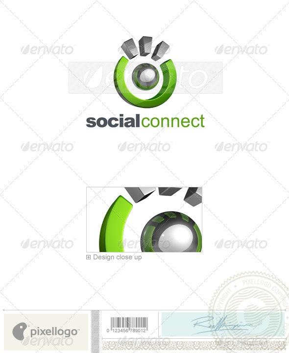 Social Media Logo 3D-740 - 3d Abstract