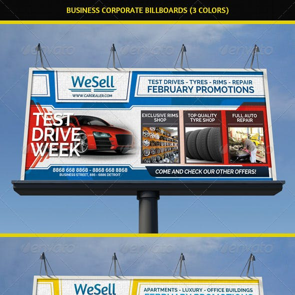 Sales & Services Business Billboard
