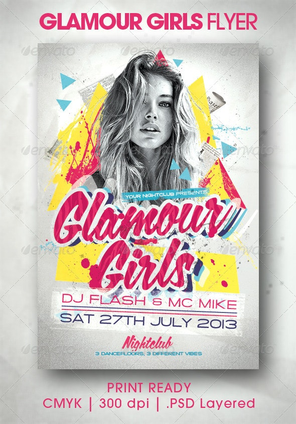 Glamour Girls Flyer - Events Flyers