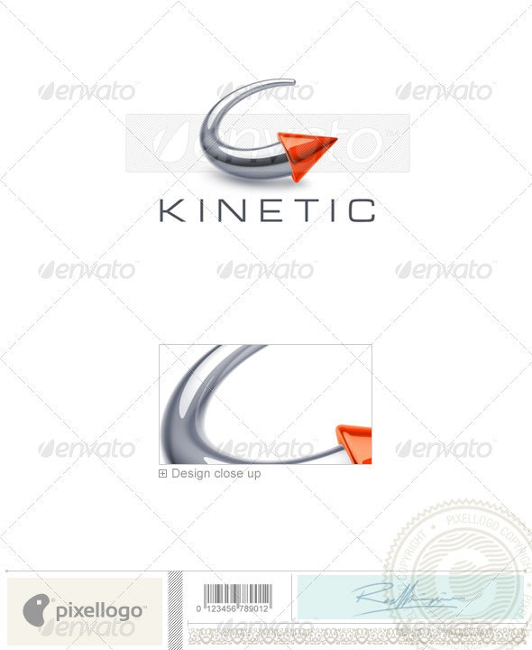 Circular Arrow Logo 3D-753 - 3d Abstract