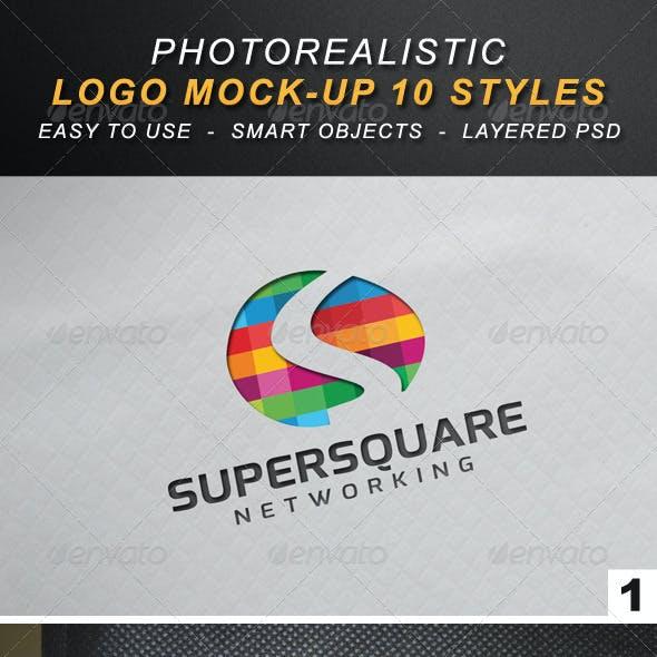Photorealistic Logo Mock-Up 10 Styles