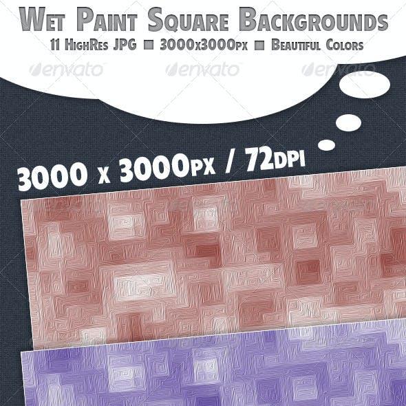 Wet Paint Squares Background