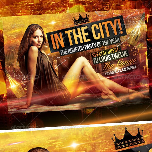 In the City - Rooftop Party | Flyer Template