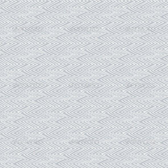 Zigzag Lines in Silver Grey