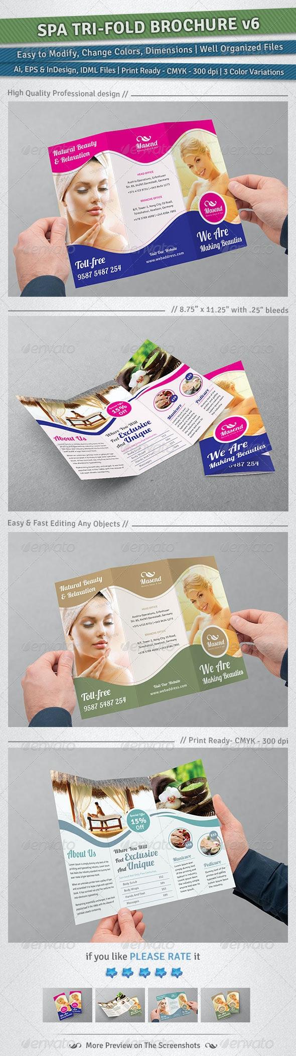 Spa Tri-Fold Brochure | Volume 6 - Corporate Brochures