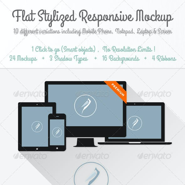 Stylized Responsive Mockup Template