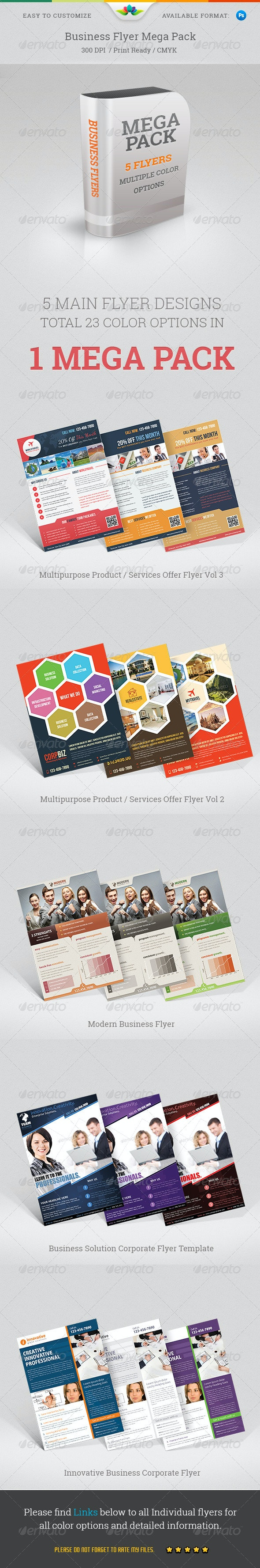 Business Flyers Mega Pack - Corporate Flyers