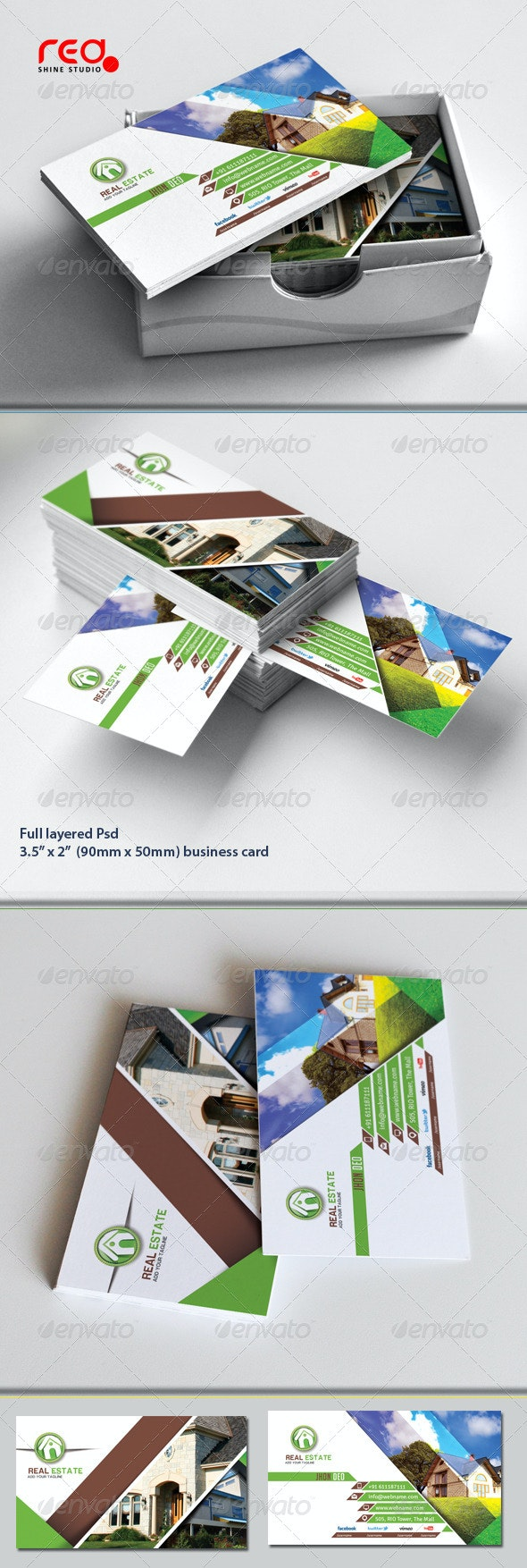 Real Estate Business Card Set - Industry Specific Business Cards