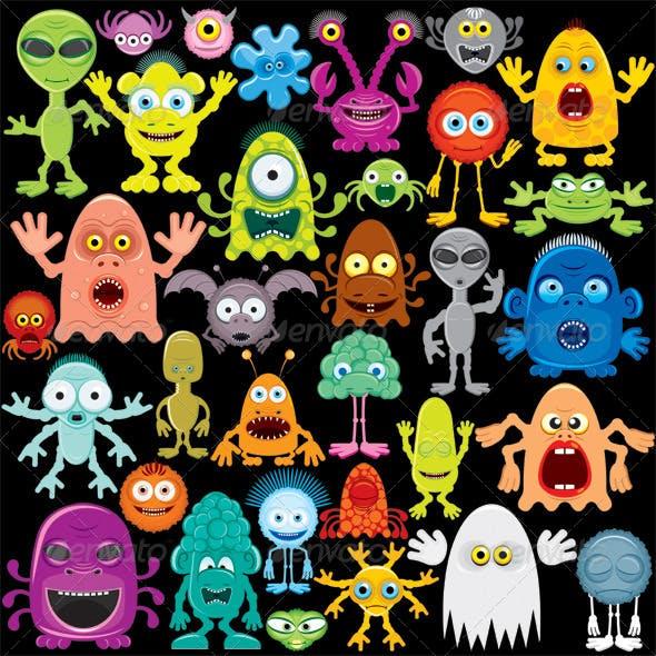 Cartoon Monster, Mutants and Aliens