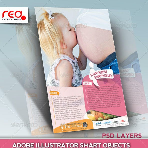 Maternity Hospital Flyer Template