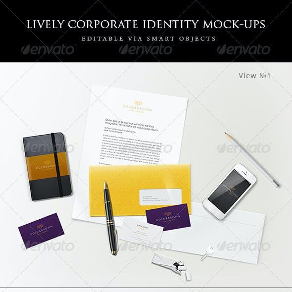 Lively corporate stationery/branding mock-ups