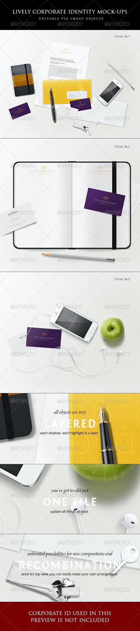 Lively corporate stationery/branding mock-ups  - Stationery Print
