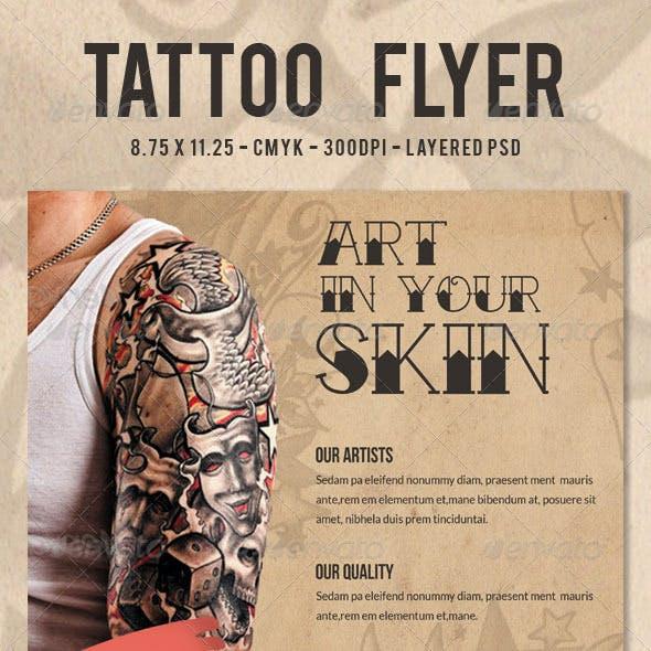 Tattoo Flyer/ Print Ad