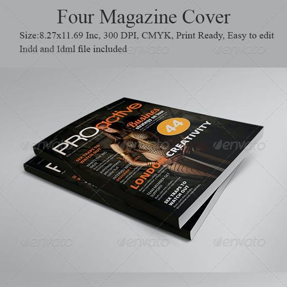 Four Magazine Cover Templates
