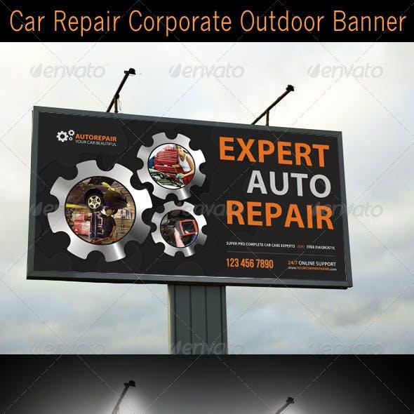 Car Repair Corporate Outdoor Banner