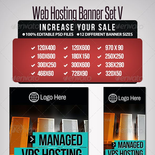 Web Hosting Banner Set V - 12 Sizes