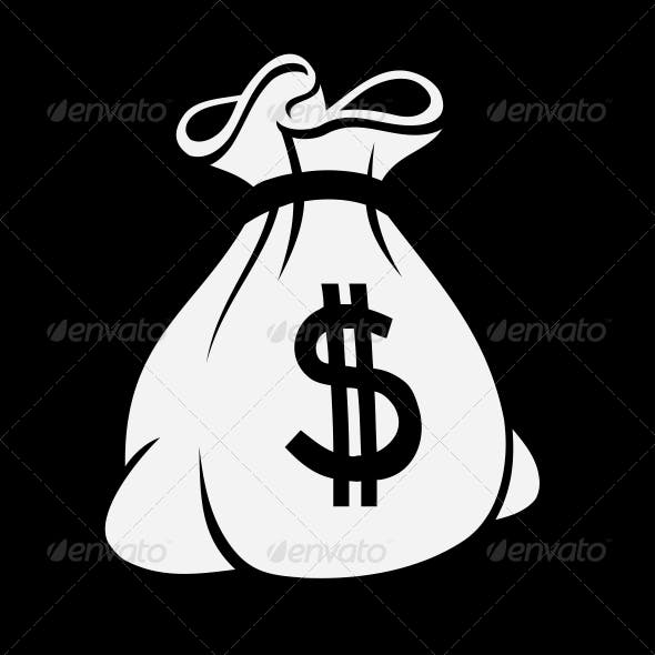 Money Icon with Bag