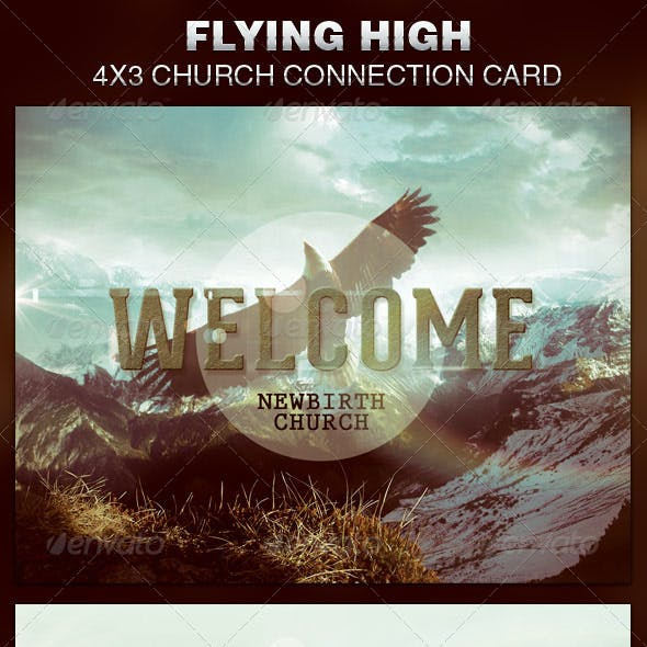 Flying High Church Connection Card Template