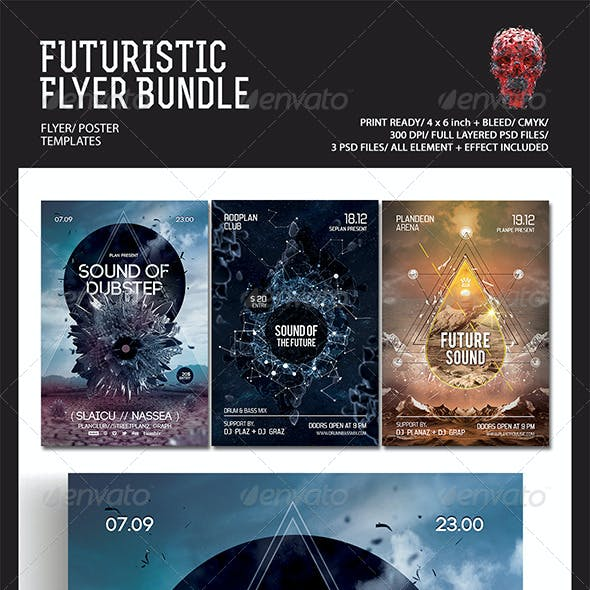 Futuristic Flyer/Poster Bundle