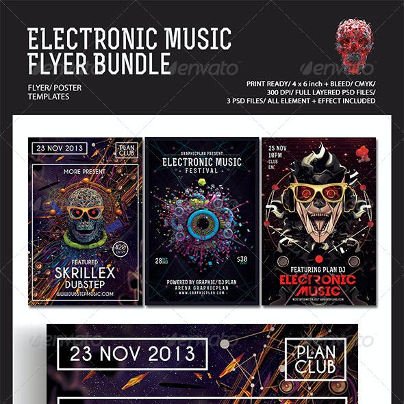 Electronic Music Flyer/Poster Bundle