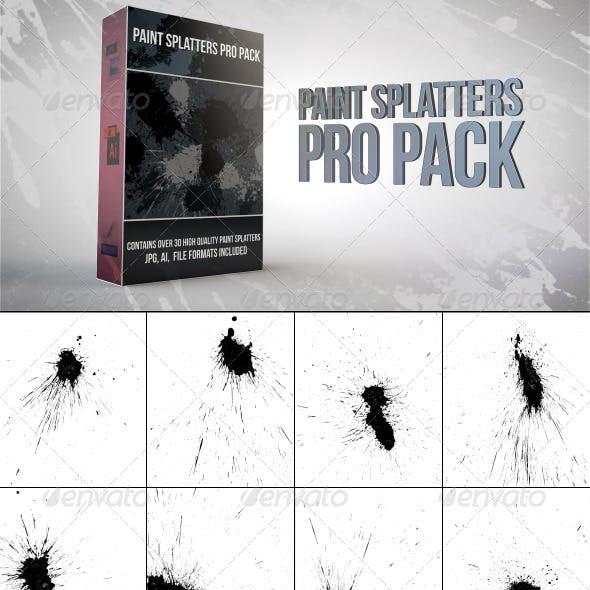 31 Vector Paint Splatters