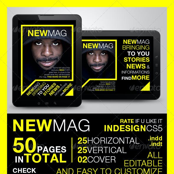 Newmag Tablet Magazine Template