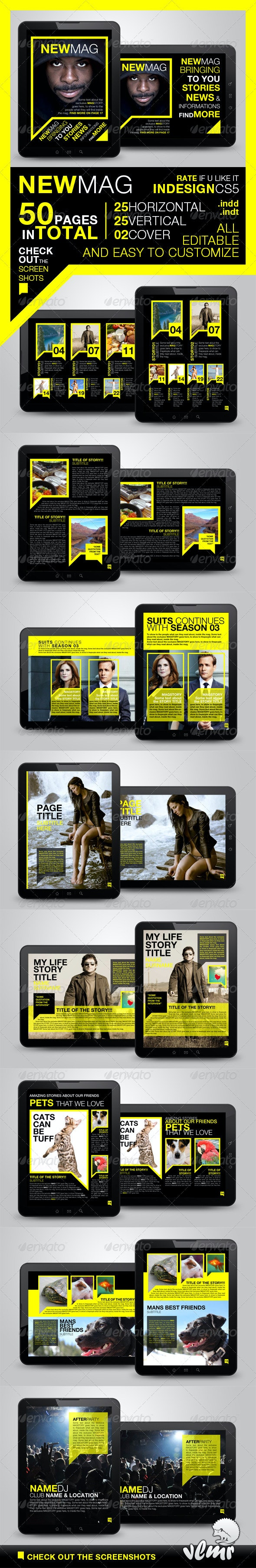 Newmag Tablet Magazine Template - Digital Magazines ePublishing