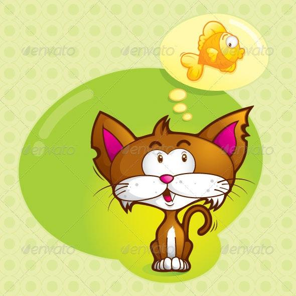 Imagine (cute cat) - Animals Characters
