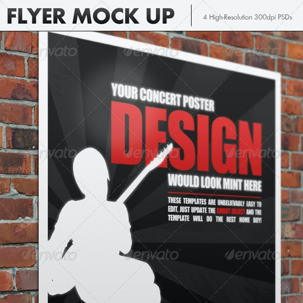 4 Photo Realistic Flyer Mock Up Smart Template