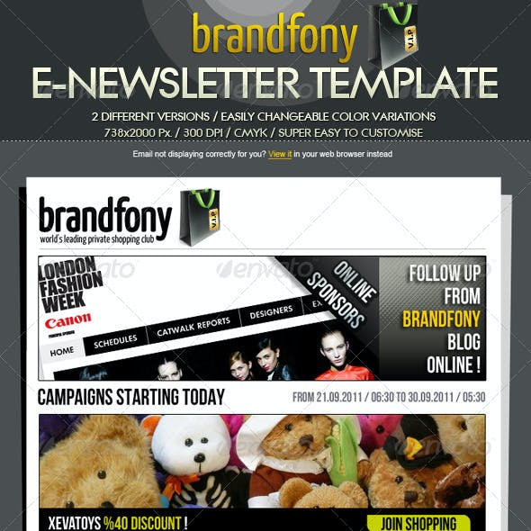 Brandfony E-Newsletter Template