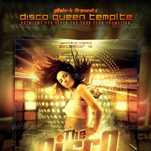 Disco Queen Flyer Template