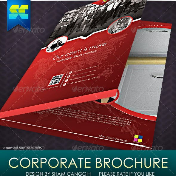 Clean & Modern 4 Pages Corporate Brochure