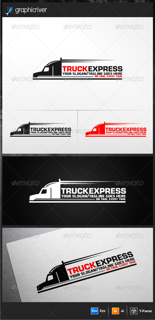Truck Express Logo Templates - Objects Logo Templates