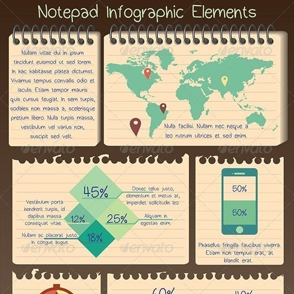 Notepad Infographic Elements