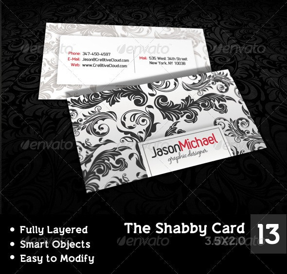 The Shabby Card - Creative Business Cards