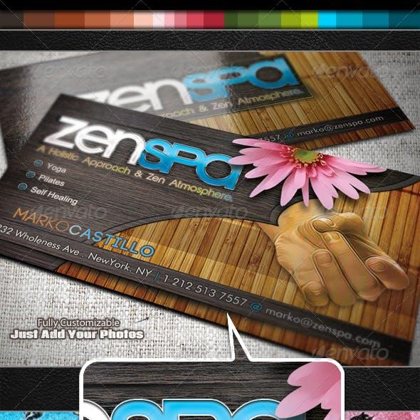 Zen Spa - Business Card Set