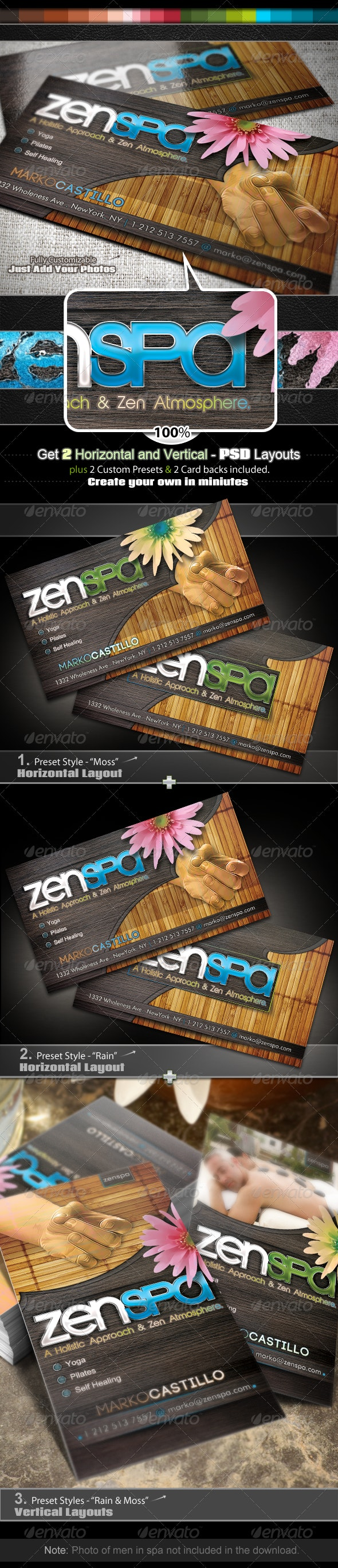 Zen Spa - Business Card Set - Industry Specific Business Cards