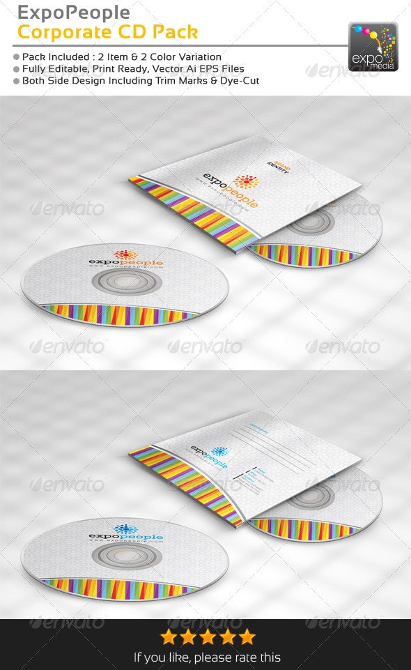 ExpoPeople Corporate CD Package - CD & DVD Artwork Print Templates