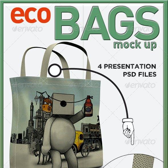 Eco Bags Mock Up