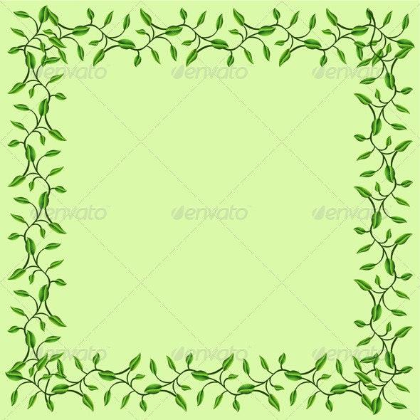 Olive Branches Decorative Frame - Flourishes / Swirls Decorative