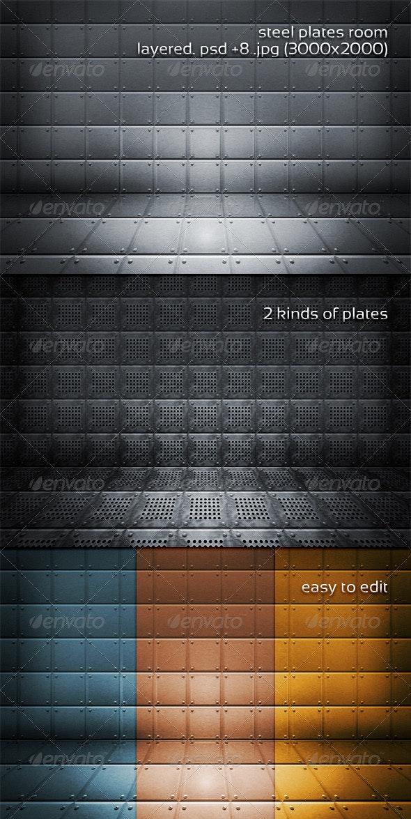 Steel Plates Room - 3D Backgrounds