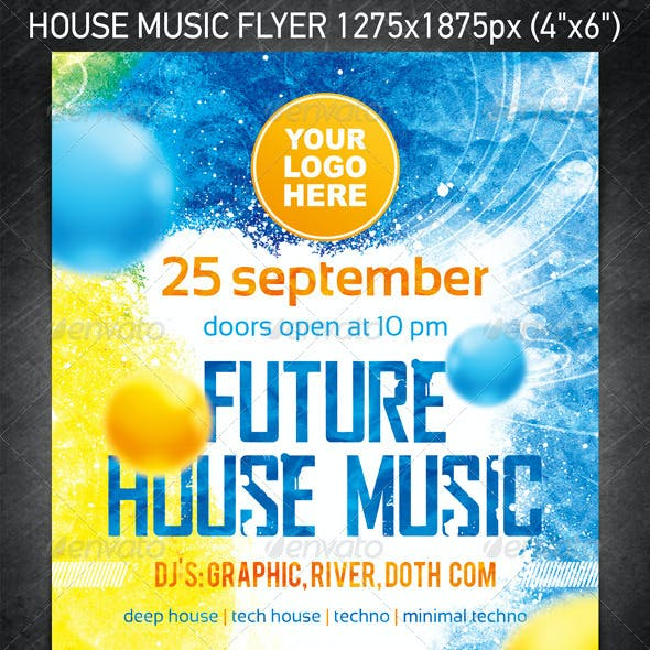 Future House Music Flyer